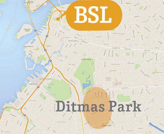 Accommodation Map Ditmas Park