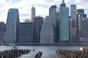 View of downtown Manhattan from the Brooklyn Heights Promenade