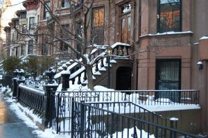 Brownstones in winter, Williamsburg