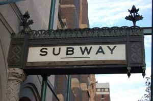 Iconic sign - The subway